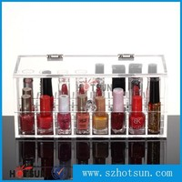 acrylic box for nail polish/ acrylic lucite clear cosmetic organized/ acrylic storage box