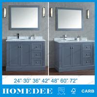 Hangzhou New Product Wood Vanity Make up Bathroom Cabinet Sets