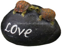 Top Collection Enchanted Story Fairy Garden Bird Stone I Love You Outdoor Statue Set of 3