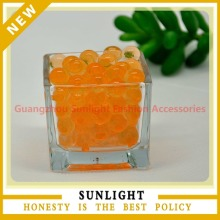 Beautiful Orange Water beads for Wedding Vase Centerpiece with Cystal Soil