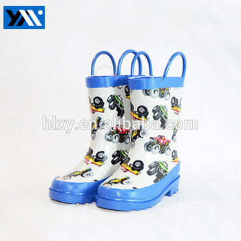 printed waterproof rubber boots rain shoes for children