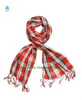 fashion checked 100% cotton mens scarves and shawls CX-12