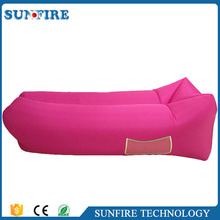 Factory wholesale oem logo printed laybag, inflatable lounger couch