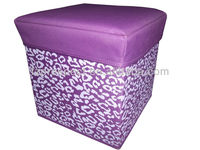 Home colorful multi-function polyester folding storage ottoman stool &cool box