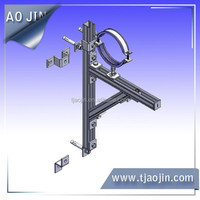 pipe wall mounting brackets/bracket mount