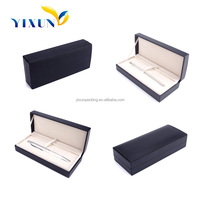 luxury Faux Leather Cover mens plastic pen gift box