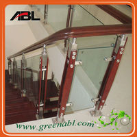 stainless steel indoor staircase handrail design