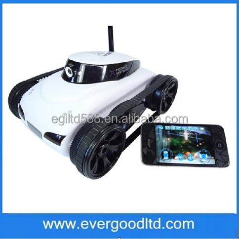 Wholesale hotest 2.4G 4CH tank Wifi tank Iphone Ipad Electric Remote Control With Camera Toy For Children