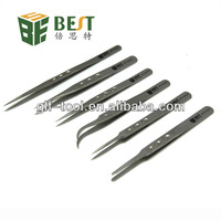 Multi function stainless tweezers for eyelash extension