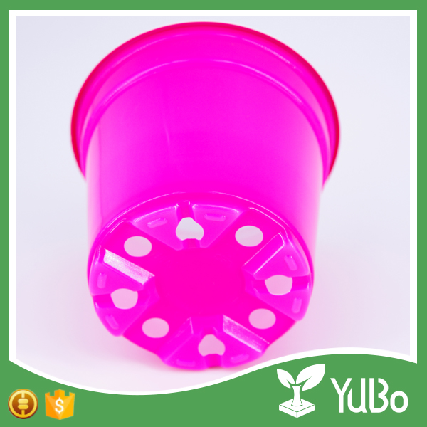 wholesale outdoor garden colorful flowerpot, plastic flower pots for nursery