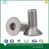 DIN7991 M8 Stainless Steel A2 Allen Bolts Countersunk Socket Cap Screws
