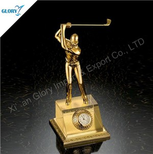 Vivid Golf Golden Color Sport Trophies
