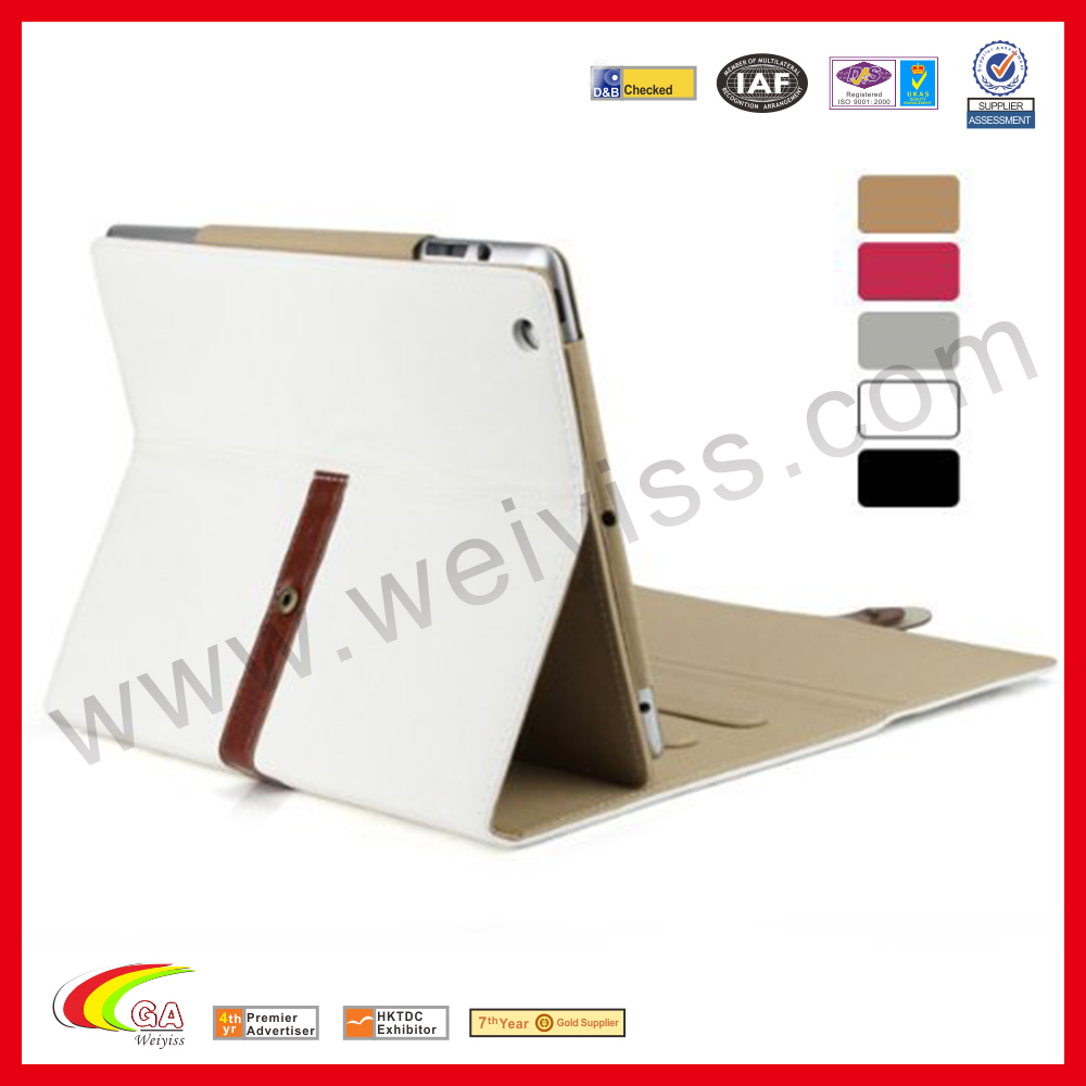 WYIPD-ABB028 Alibaba Recommend Belt Buckle Case for iPad Mini 2 Leather Case