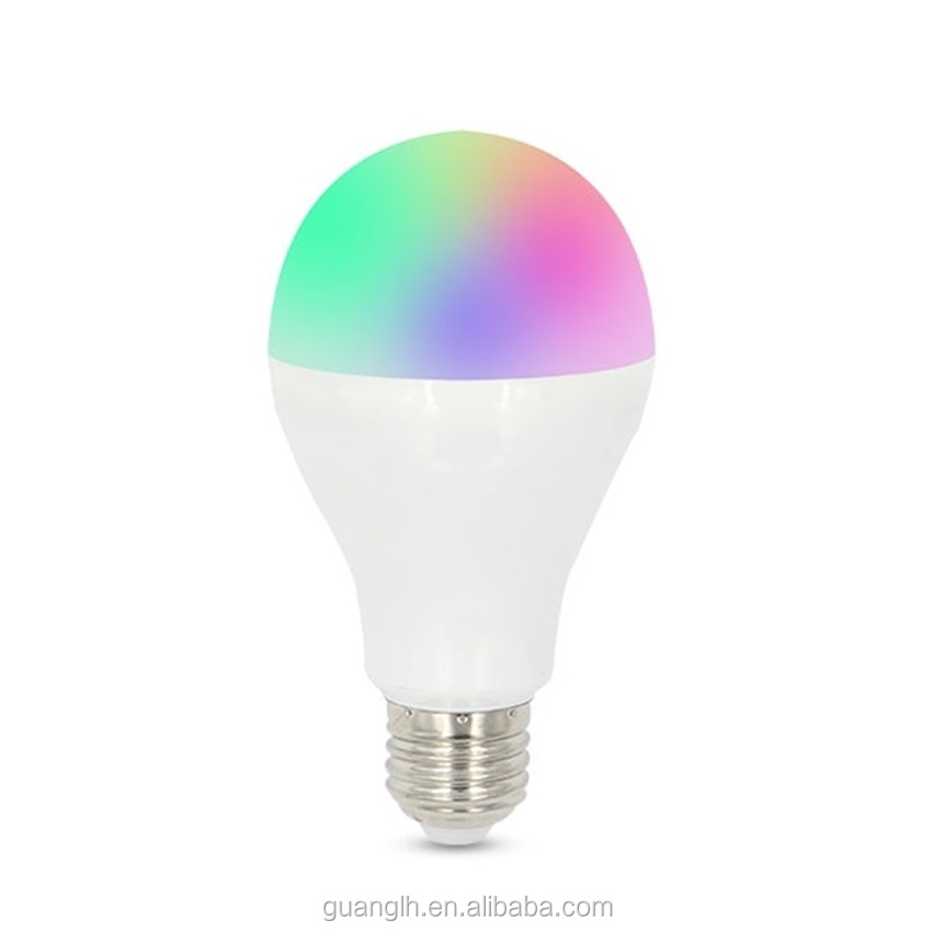 Intelligent led bulb / wireless remote control multi color change 9w RGBW led bulb lighting