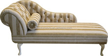 C-023 Warm colour comfy Baroque chaise lounge