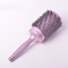 Purple plastic Boar bristle round ceramic hair brush set