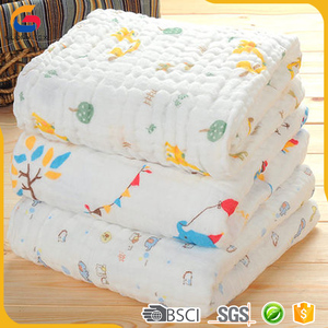 6 layers 70x140cm aden anais organic muslin swaddle blanket with printing