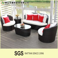 Modern Rattan Outdoor Furniture Wholesale rattan chair PE wicker single two seaster sofa three seaster sofa wicker furniture