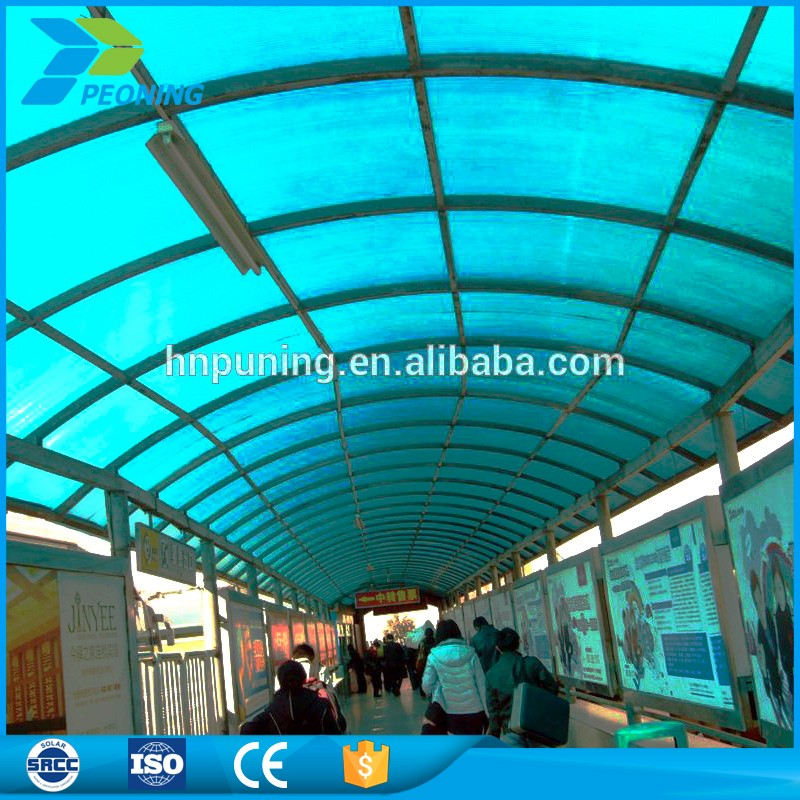 100% raw material plastic roof poly carbonate sheeting