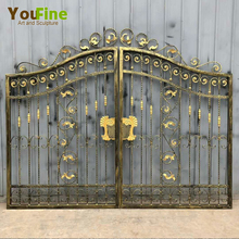 Factory Direct Wrought Iron Main Gate designs
