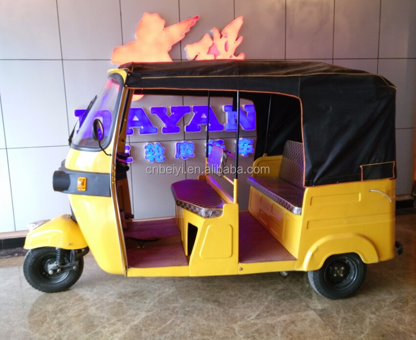 200cc 250cc India newst gasoline petrol bajaj auto rickshaw for sale