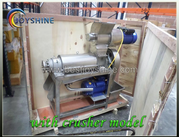 with strong wooden case package 1500kg per hour commercial cold press juicer