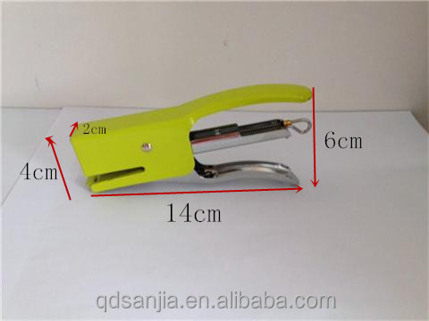 Best quality mini kid stapler light weight colored portable paper stapler
