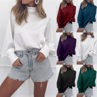 Spring 2019 Long Sleeve Chiffon Blouse Womens Tops and Blouses Ladies Tops Women silk Shirts Office Blouse