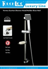 Bathroom Accessories Removable Bracket Shower Sliding Rail With Suction Cup