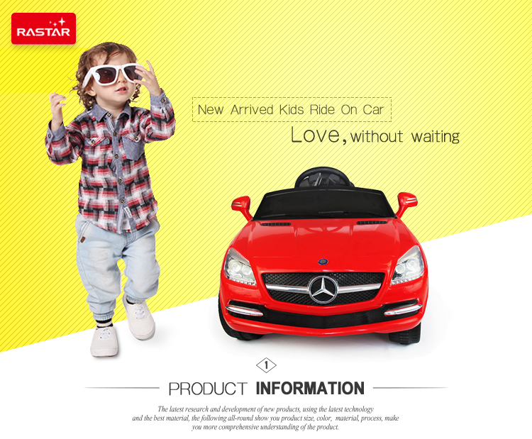 Rastar best gift with factory wholesale price Benz licensed newest ride on toy car for children