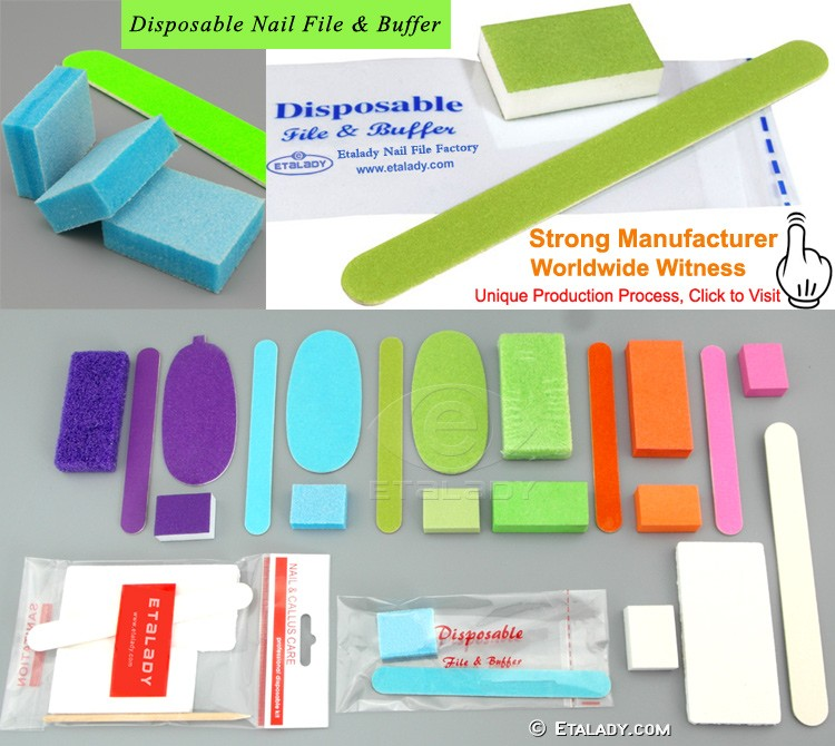 Slim disposable buffer block, Salon Mini Disposable Nail buffers