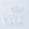 Kwang Hsieh Flower Shaped Candy Boxes Style Clear Plastic Storage Box with Dividers