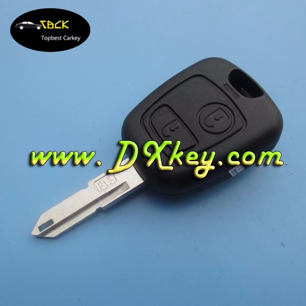 DISCOUNT PRICE auto key for citroen key 2 button with ID46 chip 433Mhz citroen c2 remote key