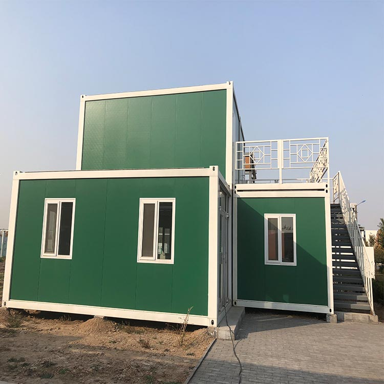 The lowest cost prefabricated house steel frame modular homes container house