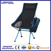portable reclining chair high seat folding beach chair aluminium camping chair