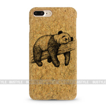 Natural Customized bamboo case for iphone cork case for iphone 7 mobile wooden case
