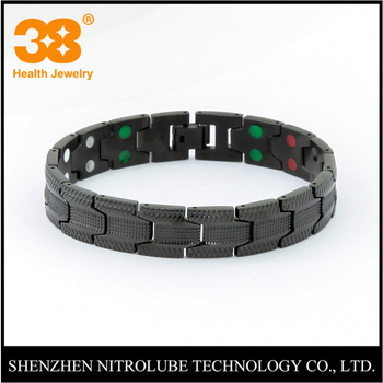 2017 New Fashion Custom Negative Ion Stainless Steel Bio Power Bracelet