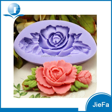 2015 Good Quality New Design Silicone Rose Cake Mold
