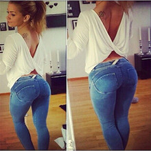 DON10 New Arrival Hot Girl Pant Jeans Sexy Women Jeans Butt Lifting Latest Jeans Tops Girls