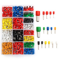 High Quality Insulated Cord Pin End Terminals Tin-Plated,2120 PCS Insulated Cord End Terminals