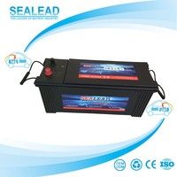 Large capacity quick start 12v 120ah motor vehicle battery korean car battery
