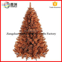 2016 yellow color pine christmas tree decoration