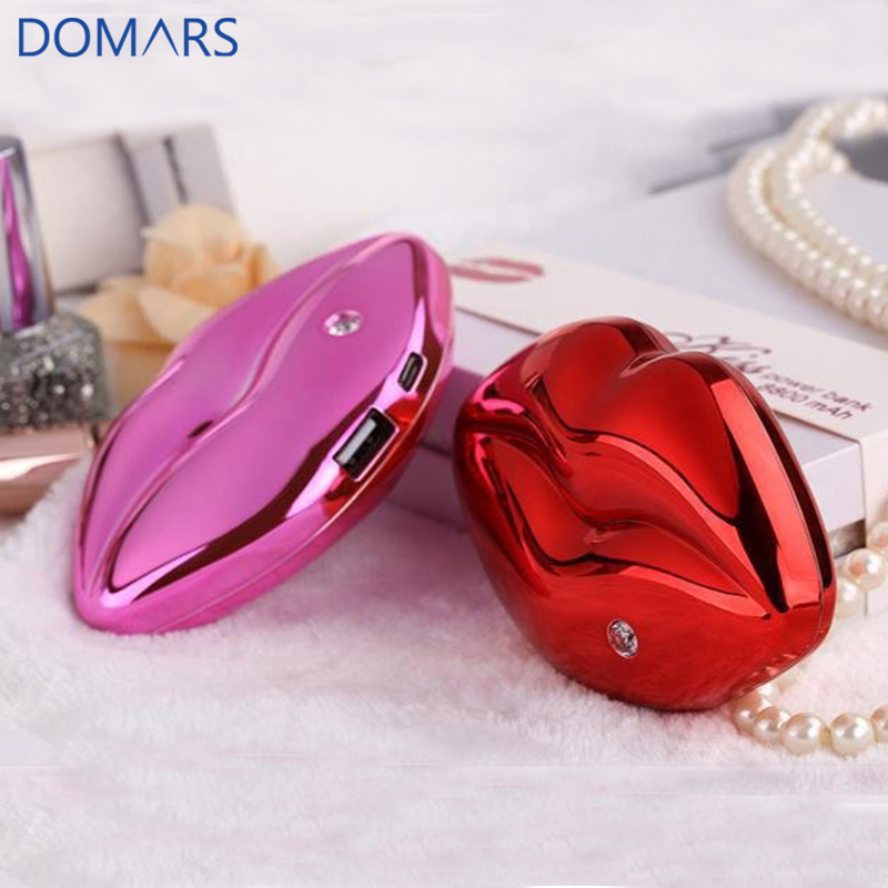 Portable Mini Promotion 4000mah Red Kiss Power Bank Customer <strong>Electronics</strong> Durable Mobile Phone Charger
