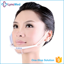High standard transparent plastic face surgical mask medical face mask