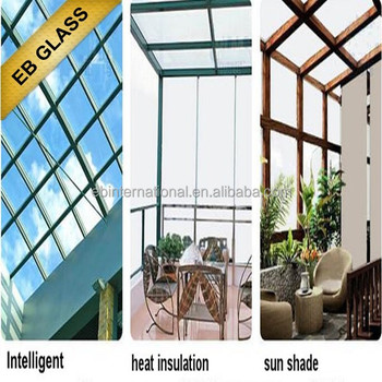 Milk White Temperature control smart glass, Intelligent glass, EB GLASS