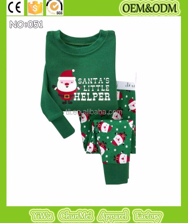 tinaluling kids christmas pajamas children santa claus pyjamas boys cotton sleepwear girls long sleeve night dress