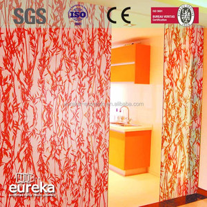 Translucent bedside panel 3acrylic sliding closet door