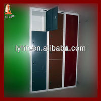 shinee color combination knock down metal locker ,clothing steel locker, baseball lockers with modern design