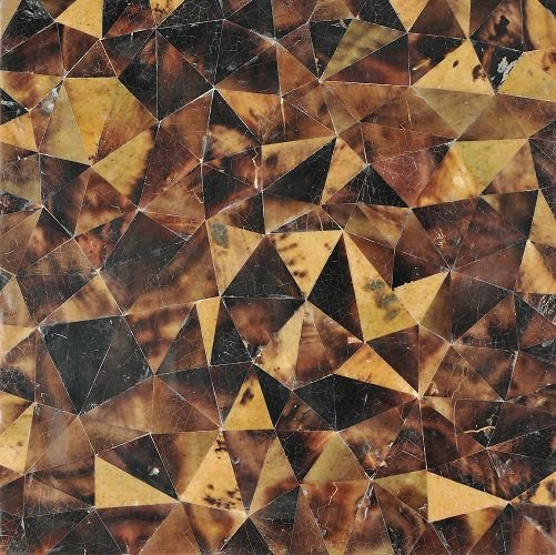 brown lip shell mosaic crazy crackle pattern