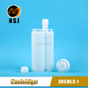 385ml 3:1Plastic One-use Side by Side Empty Silicone Glue Bottle